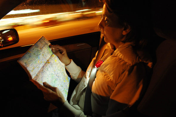 Whether a map or a book, clip a Grip-On LED Flashlight onto your seat belt to read in a car