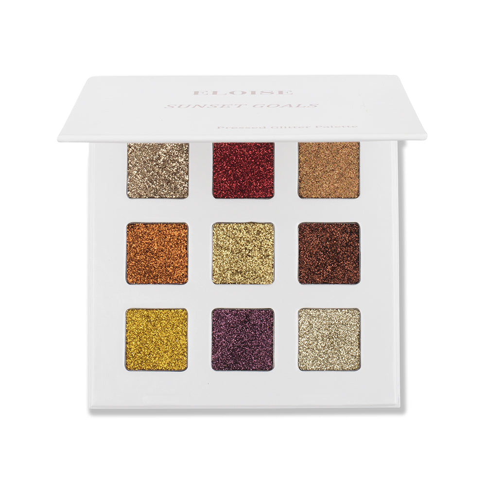 Sunset Goals Pressed Glitter Eye Shadow Palette