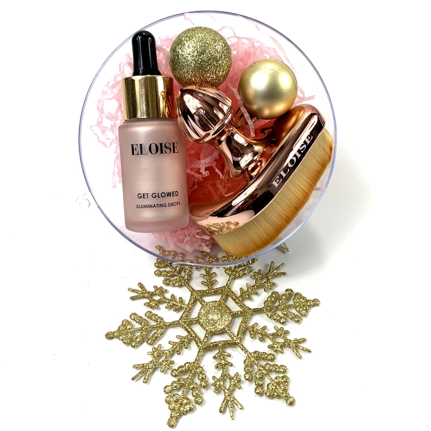 Tear Drop Brush & Get Glowed Illuminator Ball - Christmas Edition