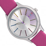 Crayo Gel Leatherette Strap Watch - Hot Pink
