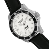 Heritor Automatic Lucius Leather-Band Watch w/Date - Silver/White