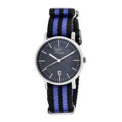 Related product : Sophie & Freda Nantucket Nylon-Band Ladies Watch - Silver/Purple