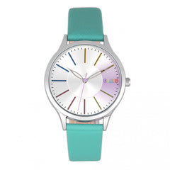 Related product : Crayo Gel Leatherette Strap Watch - Teal