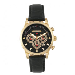 Related product : Morphic M60 Series Chronograph Leather-Band Watch w/Date - Gold/Black