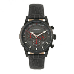 Related product : Morphic M60 Series Chronograph Leather-Band Watch w/Date - Black/Charcoal