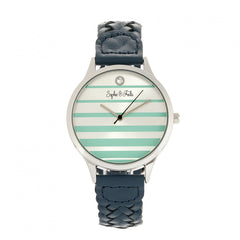 Related product : Sophie & Freda Tucson Leather-Band Watch w/Swarovski Crystals - Silver/Teal