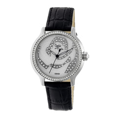 Related product : Sophie & Freda Monaco MOP Swiss Ladies Watch - Silver/Black