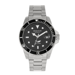 Related product : Heritor Automatic Lucius Bracelet Watch w/Date - Silver/Black