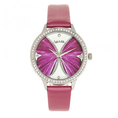Related product : Sophie & Freda Rio Grande Leather-Band w/Swarovski Crystals - Silver/Fuchsia