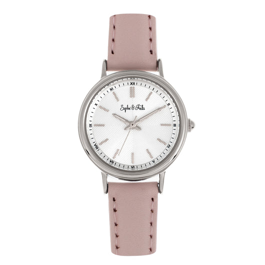 Sophie & Freda Berlin Leather-Band Watch - Light Pink