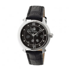 Related product : Sophie & Freda Siena Leather-Band Ladies Watch - Silver/Black
