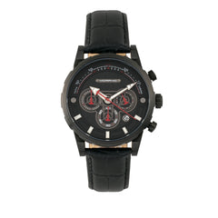 Related product : Morphic M60 Series Chronograph Leather-Band Watch w/Date - Black
