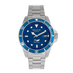Related product : Heritor Automatic Lucius Bracelet Watch w/Date - Silver/Blue