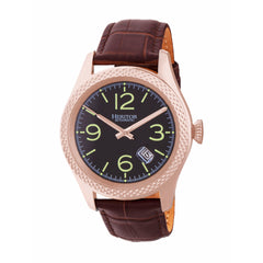 Related product : Heritor Automatic Barnes Leather-Band Watch w/Date - Rose Gold/Brown