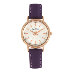 Related product : Sophie & Freda Berlin Leather-Band Watch - Purple