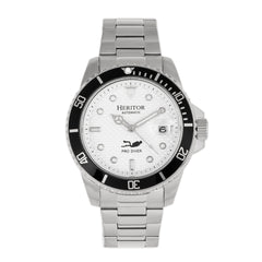Related product : Heritor Automatic Lucius Bracelet Watch w/Date - Silver/White