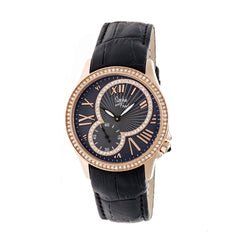 Related product : Sophie & Freda Toronto Leather-Band Ladies Watch - Rose Gold/Black