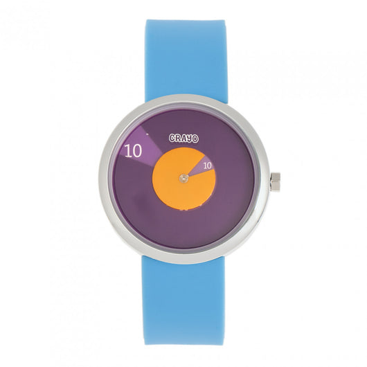 Crayo Pinwheel Silicone Strap Watch - Light Blue