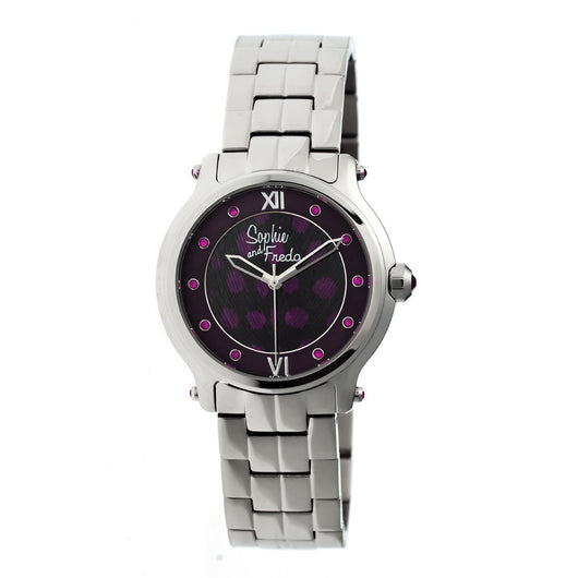 Sophie & Freda Siena Ladies Bracelet Watch - Silver/Purple