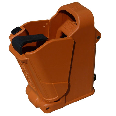 Maglula UpLULA Universal Pistol Magazine Loader-Orange Brown