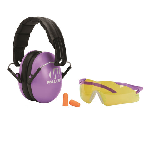 GSM Walker's Youth-Women's Muff-Glasses-Plugs Combo - Purple