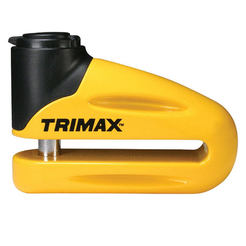Trimax T665LY Yellow Hardened Metal Disc Lock 10mm Pin