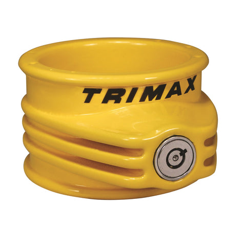 Trimax TFW55 Ultra Tough 5th Wheel Trailer Lock-Yellow