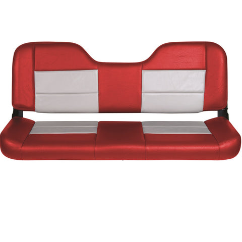 Tempress 48in Folding Bench Seat - Red-Gray