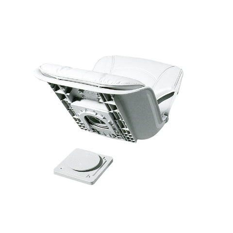All-Weather Low Back QD Combo White Seat - White Cushion