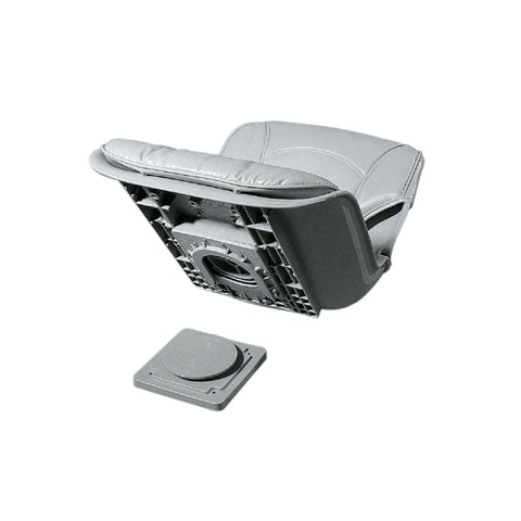 All-Weather Low Back QD Combo Gray Seat - Gray Cushion