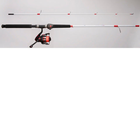 SMARTROD 7' Spinning Combo w-Bite Alert Red Braided Line 4BB