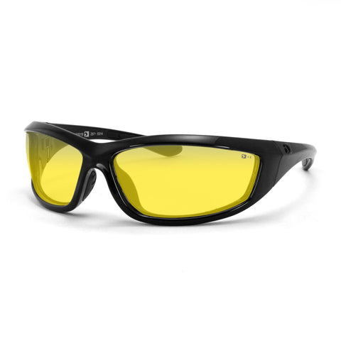 Bobster Charger Sunglass Z87+-Blk Frame-Anti-fog Yellow Lens