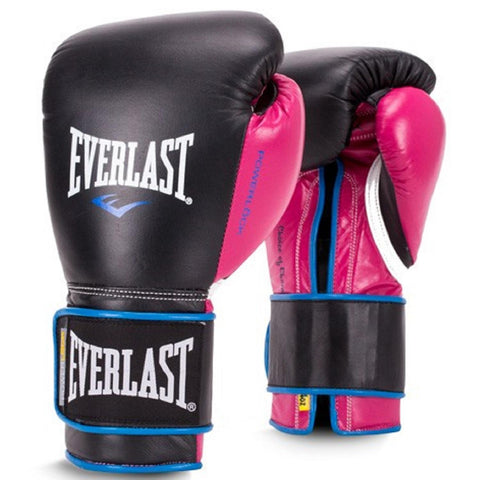 Everlast 12oz Women's Powerlock Hook-Loop Gloves Black-Pink
