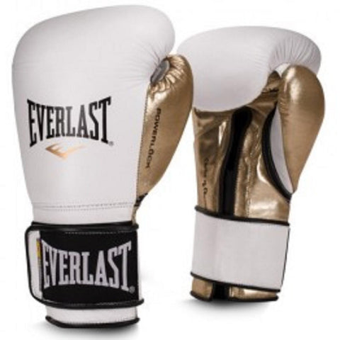 Everlast 12oz Women's Powerlock Hook-Loop Gloves White-Gold