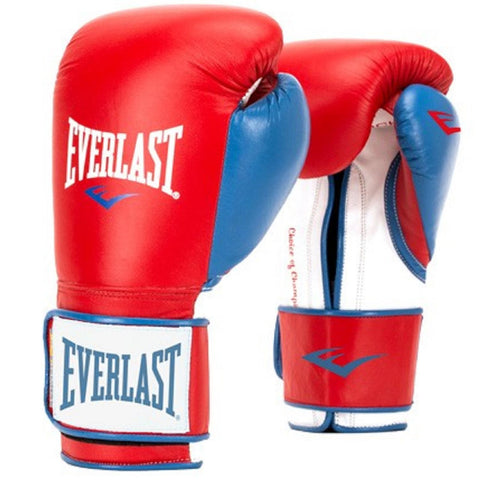 Everlast 14oz Men's Powerlock Hook-Loop Gloves Red-Blue