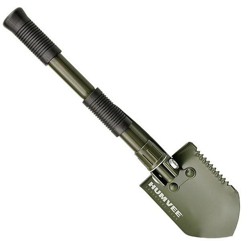 Humvee Portable Shovel w-Rubber Grip & Pickaxe Olive Drab