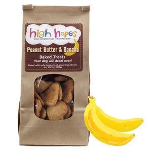 High Hopes Peanut Butter & Banana Dog Treats