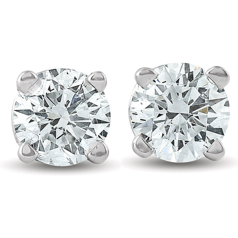 5/8ct Round Diamond Excellent Studs Screw Backs 14k White Gold Lab Grown
