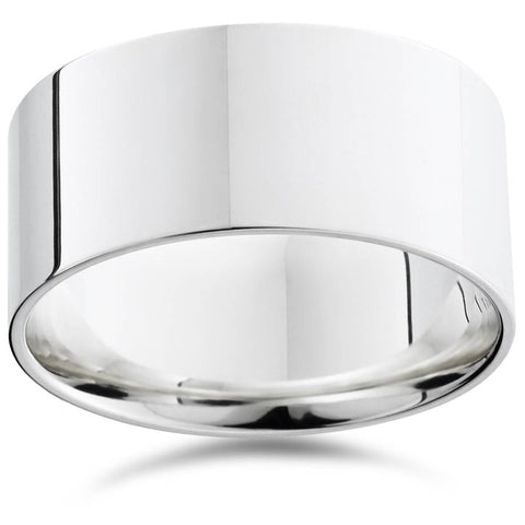 10mm Flat High Polished Wedding Band 950 Platinum