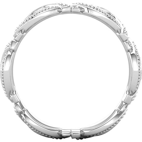 1/4ct Diamond Eternity Ring 14K White Gold