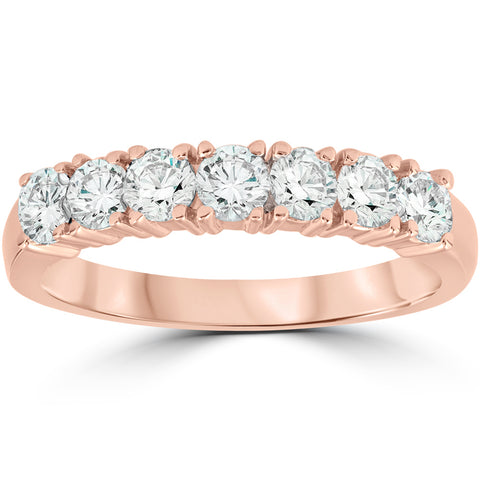 1ct Diamond Rose Gold Wedding Anniversary Ring 14K