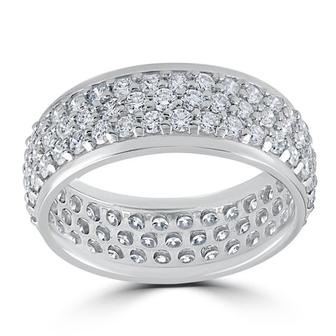 3 5/8ct Pave Diamond Eternity Ring 14K White Gold