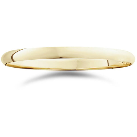 2mm 14K Yellow Gold Comfort Fit Plain Wedding Band