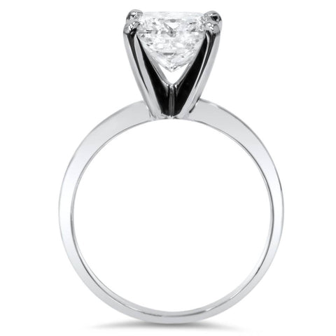 1/3ct Lab Grown Diamond Solitaire Engagement Ring 14k White Gold