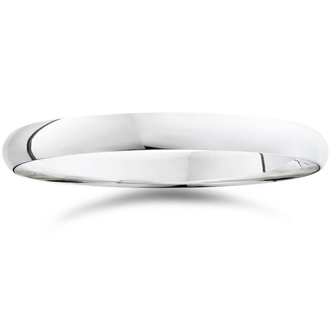 High Polished Comfort Fit 3MM Dome Wedding Ring Band 950 Platinum