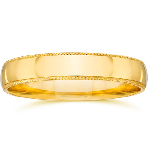 Milgrain Wedding Band 14K Yellow Gold