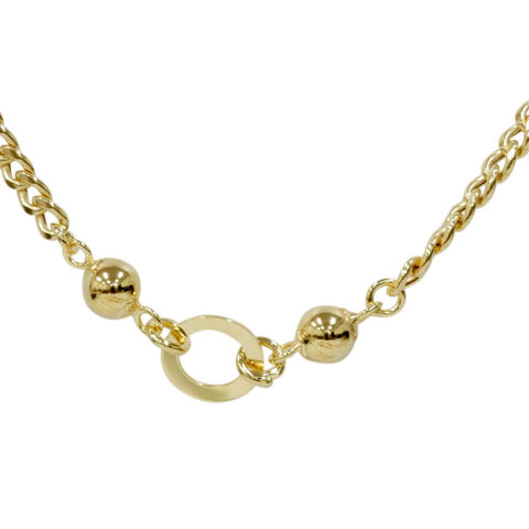 "24"" 14K Yellow Gold Chain Womens Curb Necklace 15.4 Grams"
