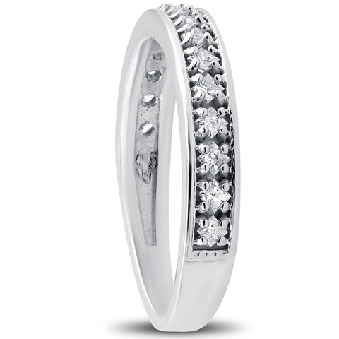 1/3ct Princess Cut Diamond Wedding Ring White Gold