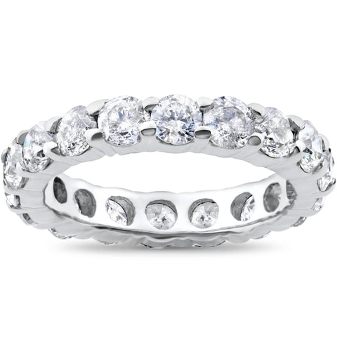 3ct 950 Palladium Diamond Eternity Wedding Ring
