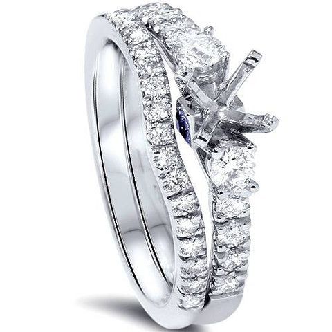1/2ct Diamond Engagement Ring Setting Set 950 Platinum